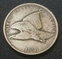 US 1858 Flying Eagle One 1c Small Cent Coin 162 YEARS OLD