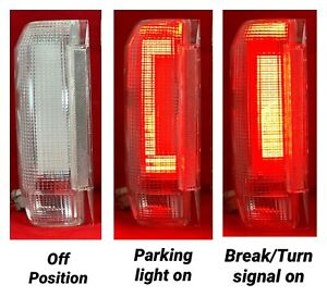 FORD TRUCK BRONCO 80-86 & 87-96 ALL CLEAR LED TAIL LIGHTS RETROFIT LED NEW RARE