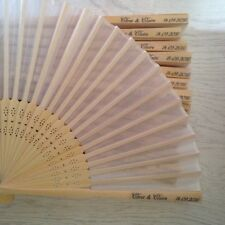 10 Personalised Wedding Favours, Wedding Favour Fans, Personalised Fans,