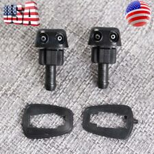 2pc New Plastic Car Auto Window Windshield Washer Spray Sprayer Nozzle Black Top