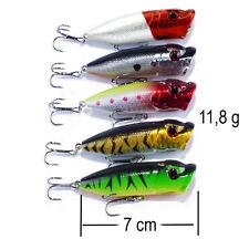 Leurre poisson nageur Popper 70mm 11,8gr pêche perche truite sandre brochet