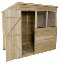 7x5 PRESSURE TREATED GARDEN WOODEN PENT SHED NEW UN USED 7ft x 5ft WOOD SHEDS