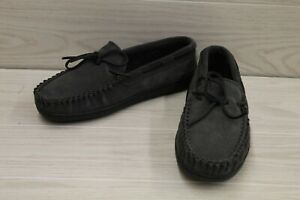 Minnetonka Tory Traditional Trapper Slippers, Men's Size 10M, Gray MSRP $44.95
