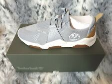 NEW TIMBERLAND EARTH RALLY OXFORD MEN'S GREY KNIT TRAINERS SIZE UK 9.5 RRP £90