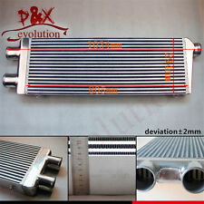 """Twin 3"""" Inlet & Outlet Alloy Turbo Intercooler Front Mount for Ford Audi BMW VW"""