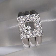 Anello Chopard Happy Diamonds con 0,43ct brillante FC 18k in oro bianco UVP 6970,- €