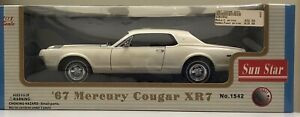 Sun Star 1:18 1967 Mercury Cougar XR7 White BEAUTIFUL VERY NICE CAR