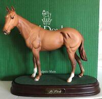 ROYAL DOULTON HORSE MR FRISK RACEHORSE CHESTNUT MODEL No. DA 190 BOXED PERFECT