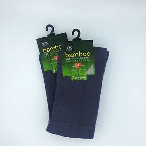 Bamboo CUSHION SOLE Circulation Socks,2 PAIR PACK