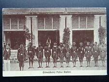 More details for india trimulgherry police station & police officers - old postcard by p. co.