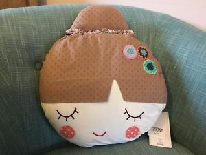Pretty Kid's Cushion - Mama's & Papa's - Girl / Flower - BNWT - RRP £22.50