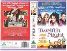 TWELFTH NIGHT VHS PAL BEN KINGSLEY,HELENA BONHAM CARTER,NIGEL HAWTHORNE RARE 90S