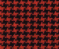 Sitzstoff Autostoff Bezugsstoff für Opel u.a. in Hahnentritt rot-schwarz *NEU*