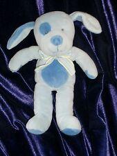 RUSS BABY BOY STUFFED PLUSH PUPPY DOG RATTLE NIZZY BLUE LOVEY STRIPE* BOW YELLOW