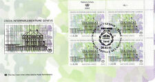 UNITED NATIONS 2003 INTER PARLIAMENTARY UNION PLATE FIRST DAY COVER GENEVA SHS