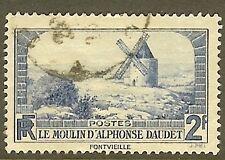 "FRANCE TIMBRE STAMP N°311 ""LE MOULIN D'ALPHONSE DAUDET, 2 F"" OBLITERE TB"