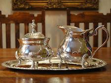 Milchkännchen Zuckerdose Silber Antik Jugendstil Sahnekännchen Menage Edel Luxus