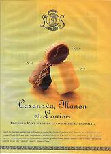 PUBLICITE ADVERTISING  1999 LEONIDAS  chocolats  Belges