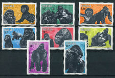 Rwanda 1983 MNH Mountain Gorillas 8v Set Gorilla Wild Animals Stamps