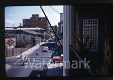 1961 Kodachrome Photo slide Coca cola sign Movie Poster street Central America