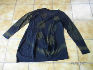 Rundholz black Label,Tunika//Shirt,Gr.XL,handbemalt,Lagenlook,gut.gepfl.Zustand