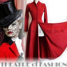 VINTAGE manteau robe tombante & Brown Riding Victorien Mariage 40 s 50 s Vamp Ascot