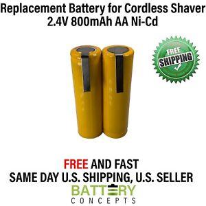 Ni-Cd AA 2.4V 600mAh Water flosser Shaver Razor Battery GP130AAHE2B1H 2SBT US