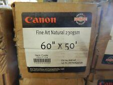 "New Genuine Canon 60"" X 50' Fine Art Natural 230GSM White Paper 0850V064 Roll"