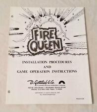 Gottlieb Fire Queen Pinball Machine Original Manual Nos! Free Shipping! New!