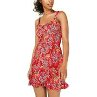 B. Darlin Red Size 9 Junior Ruffle Sweetheart Floral A-Line Dress $59 #092