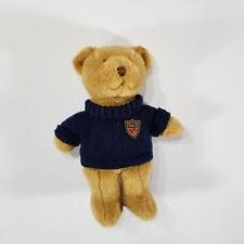 "2008 RALPH LAUREN Fragrance Polo Bear Plush Blue Plaid Crest Logo Sweater 15"""