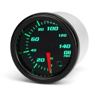 """2"""" 52mm Car Oil Pressure Press Gauge 7 Color LED Electronic Meter Psi Sensor 12V"""