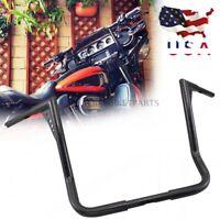 "Black 16"" Rise Ape Hanger HandleBar For Harley Touring Electra Street Road Glide"