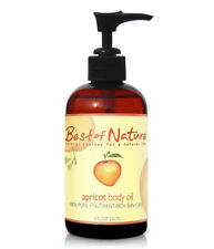 Best of Nature 100% Pure Apricot Body Oil - 8 Ounce Pump Bottle
