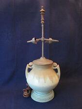 Lg. ORIGINAL LAMP BASE! Vintage ROSEVILLE ART pottery: CARNELIAN 1 pattern: EXC