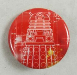 """New Dr Doctor Who Dalek 1"""" Pinback Pin Back Button"""