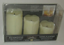 """Flameless Candles 3 Real Wax LED Candle Impressions New Cream Flickers 2"""" 3"""" 4"""""""