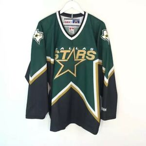 Vintage Dallas Stars CCM Green NHL Hockey Jersey Men's Size: US L