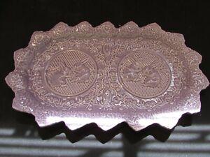 "Bordallo Pinheiro PORTUGAL Purple - Lavender BUNNY Rabbit Oval Serving Tray 13"""