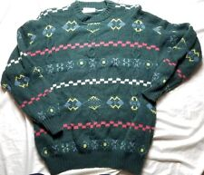 United Colors of Benetton Wool Christmas Indian Aztec Southwestern Sweater Shirt