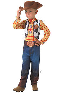 FANCY DRESS COSTUME ~ BOYS TOY STORY CLASSIC WOODY CHILDS AGES 3-8 YEARS