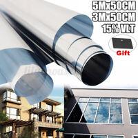 Spiegelfolie Fensterfolie 15% VLT Sonnenschutz Sichtschutz Fenster Spionfolie