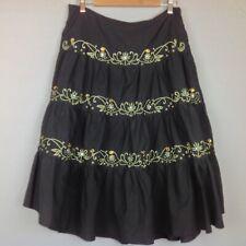 MOA Skirt Womens XL Embroidered Beaded Boho Midi