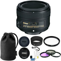 Nikon 50mm f/1.8G Auto Focus-S NIKKOR FX Lens 58mm Top Kit for Digital SLR