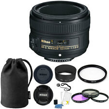 Nikon 50mm f/1.8G Auto Focus-S NIKKOR FX Lens 58mm Top Kit for Digital SLR