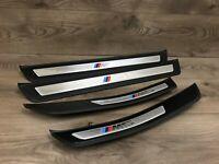 BMW OEM F10 F11 M5 FRONT AND REAR SIDE ENTRANCE STEP TRIM TRIMS SET 2011-2016