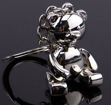 Metal Teddy Bear Shape Keychain Ring Keyring Key Fobs Funny Gift NEW