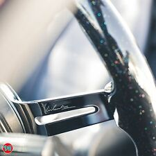 "VIILANTE 3"" DEEP DISH 6-HOLES STEERING WHEEL SPARKLE CHROME SPOKE 350mm FITS NRG"