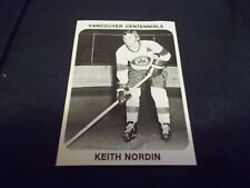 1970-71 Team Issued Coca Cola Coke Vancouver Centennials Keith Nordin