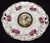 "Imperial China, Austria, Made In Japan, Red Roses Scenery 11"" Decorative Dish"